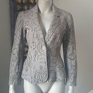 Armani Collezioni Blazer Knit Textured Fitted Sz4